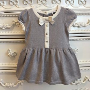 Janie And Jack silver sweater dress girls 3-6